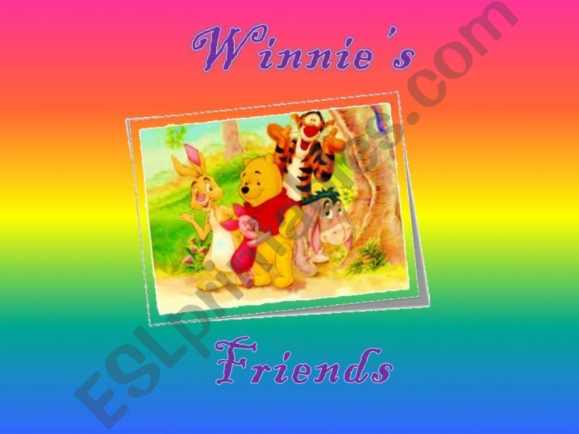 Winnie-the-Pooh. Present Simple