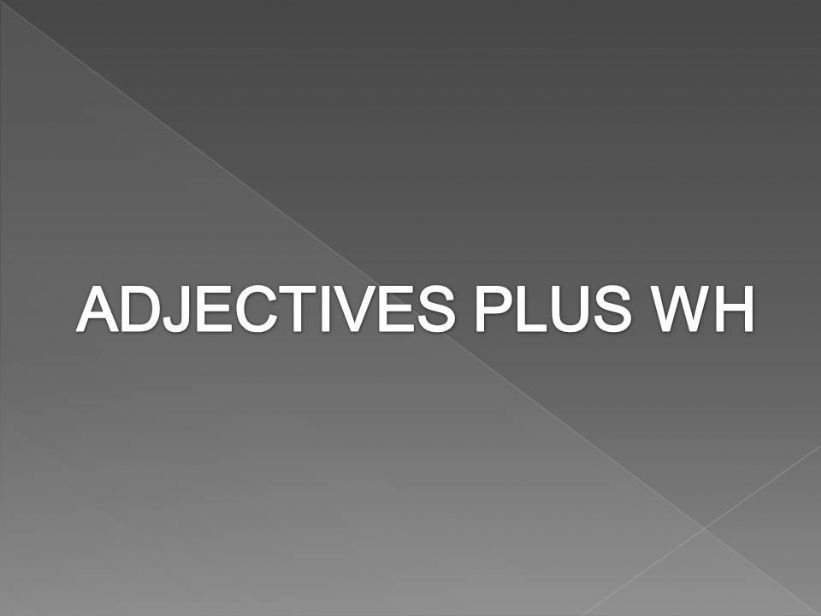 Clothes adjectives powerpoint