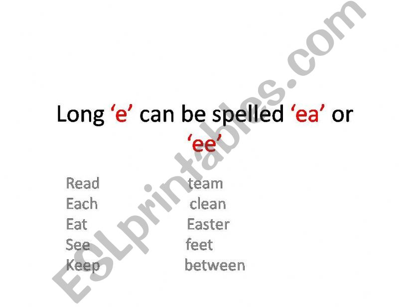 long vowels powerpoint