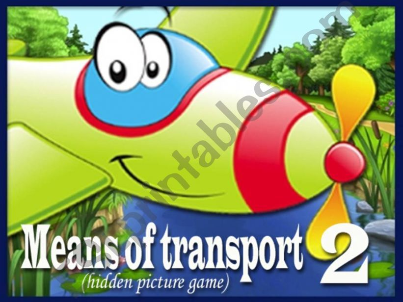 Means of Transport - Hidden Picture Game PART 2 (2)
