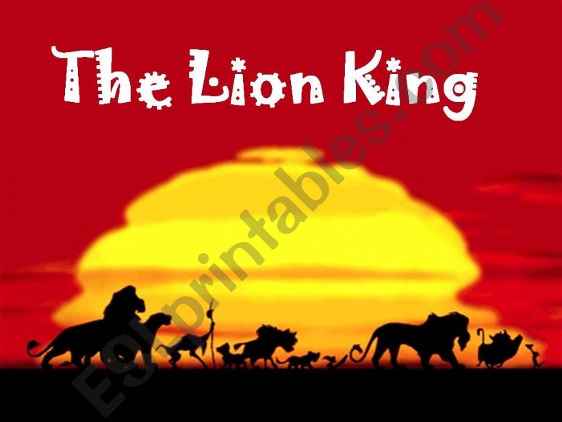 The Lion King History powerpoint