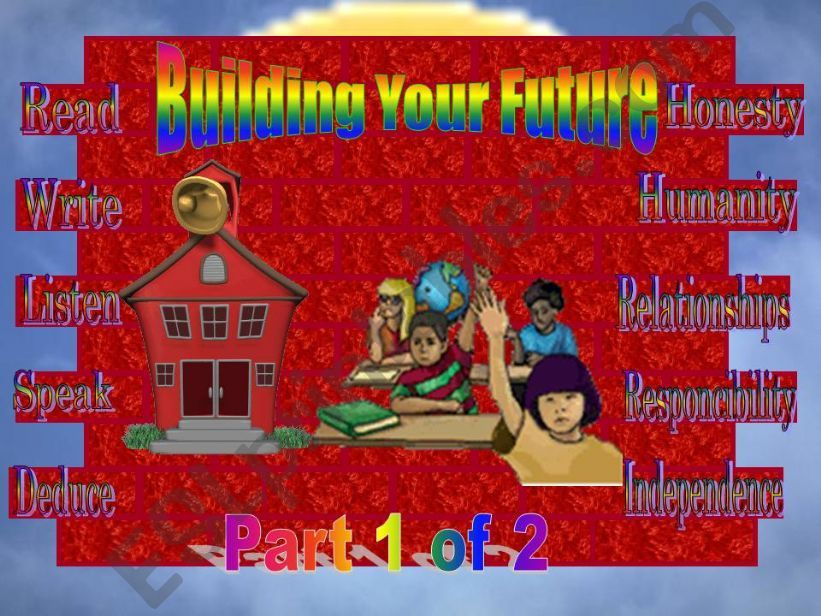 Building your future 1 of  2 ( ANIMATED )