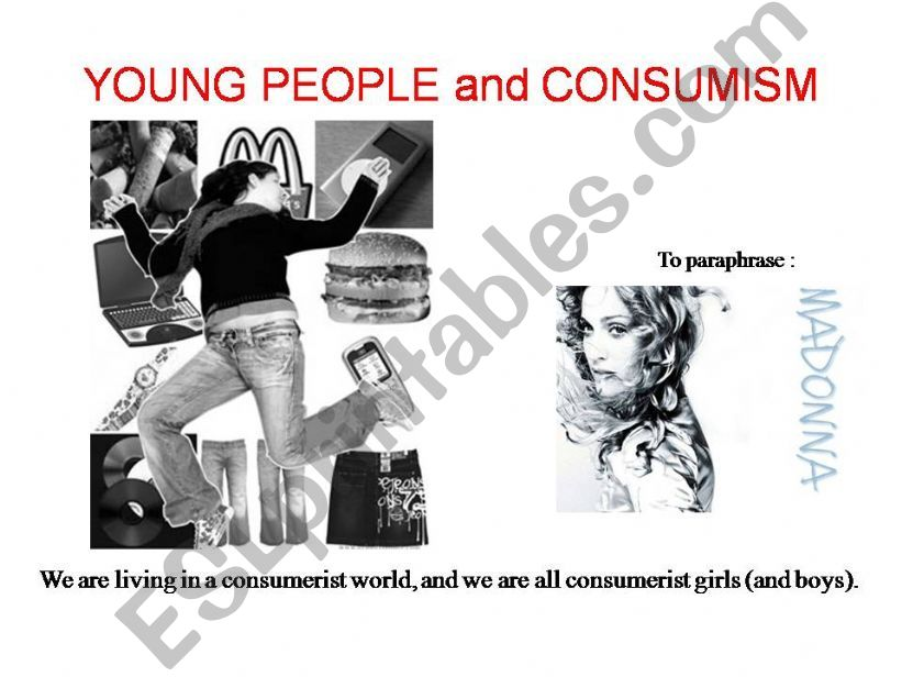 Young People and Consumism powerpoint