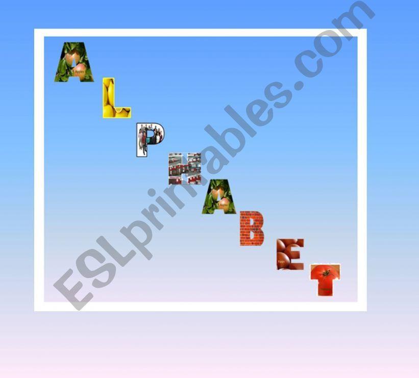 Funny alphabet 1 powerpoint