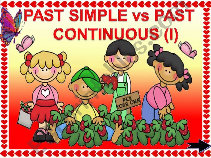 PAST SIMPLE vs PAST CONTINUOUS GAME (part 1) animated