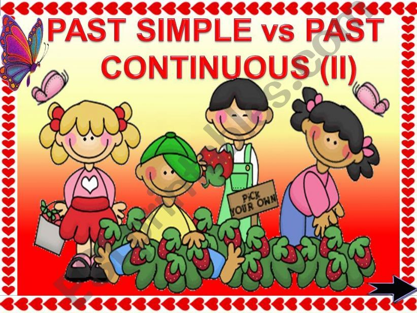 PAST SIMPLE vs PAST CONTINUOUS GAME (part2) animated
