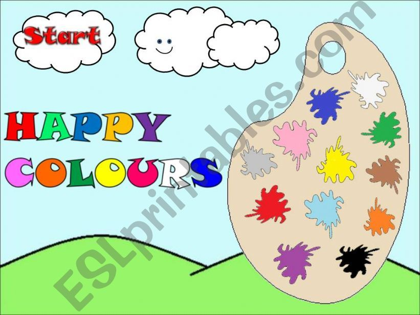 HAPPY COLOURS - GAME - powerpoint
