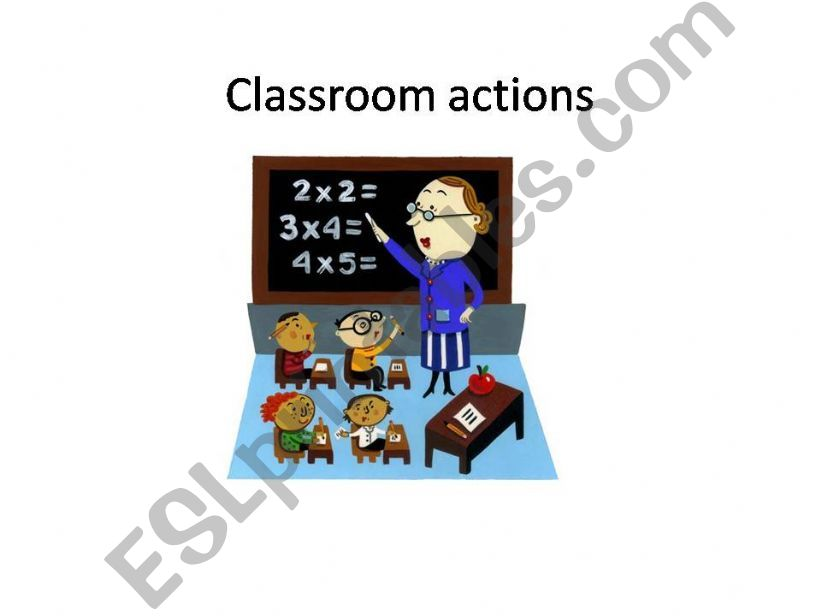 Classroom vocabulary powerpoint