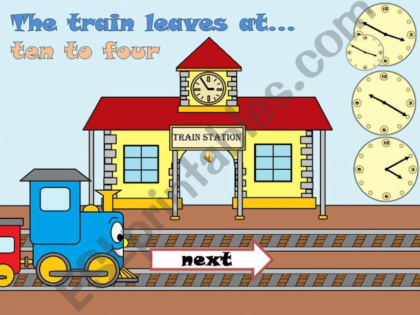 THE TRAIN LEAVES AT...- Part 2 -