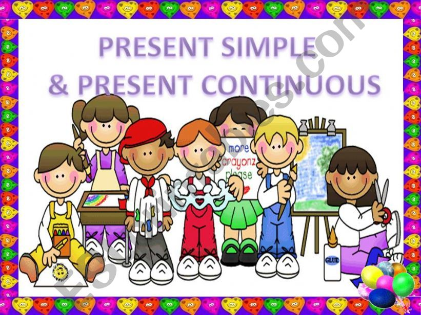PRESENT SIMPLE & CONTINUOUS 1 (GAME)