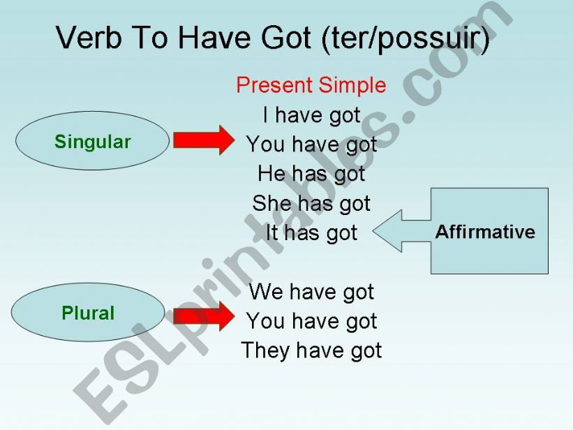 Verb To HAve Got powerpoint