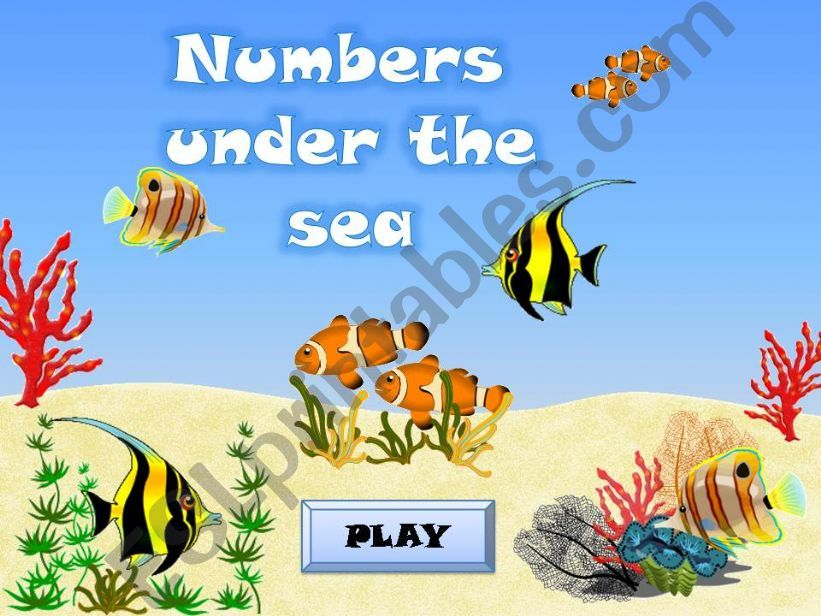 NUMBERS (1-100) UNDER THE SEA powerpoint