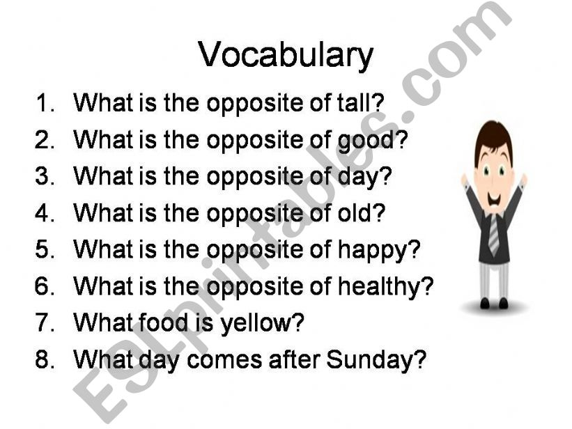 ESL - English PowerPoints: General knowledge quiz for pupils