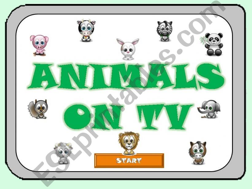 ANIMALS ON TV - Part 1 - powerpoint