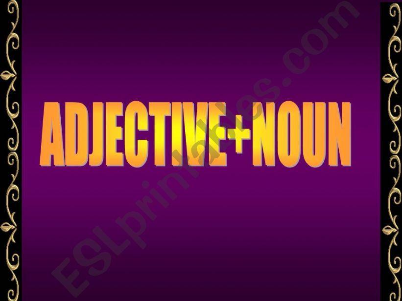 Adjective + Noun powerpoint
