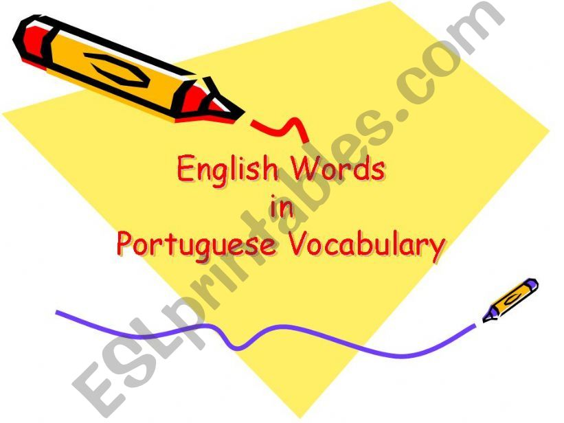 English words in portuguese vocabulary