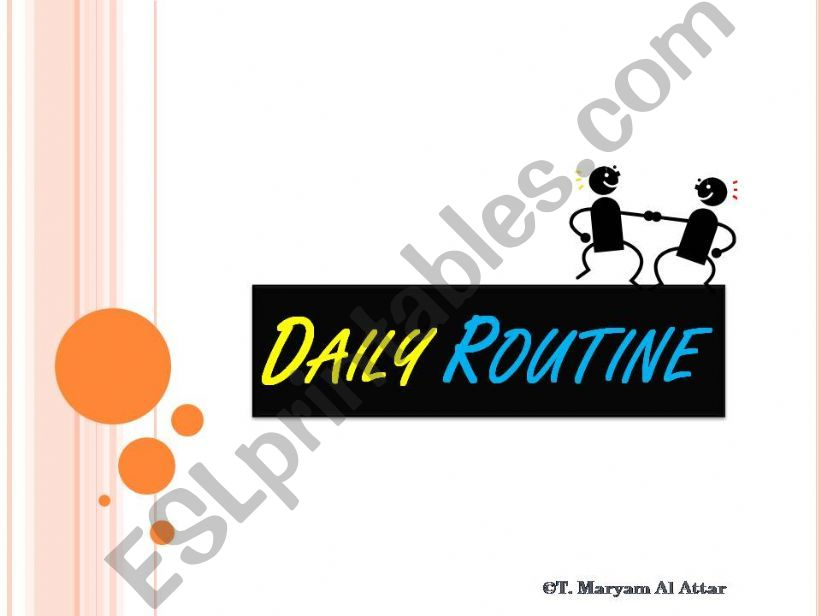 daily routine2  powerpoint