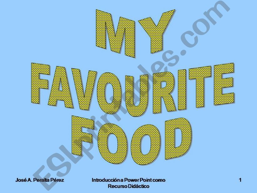 My Favourite Food powerpoint