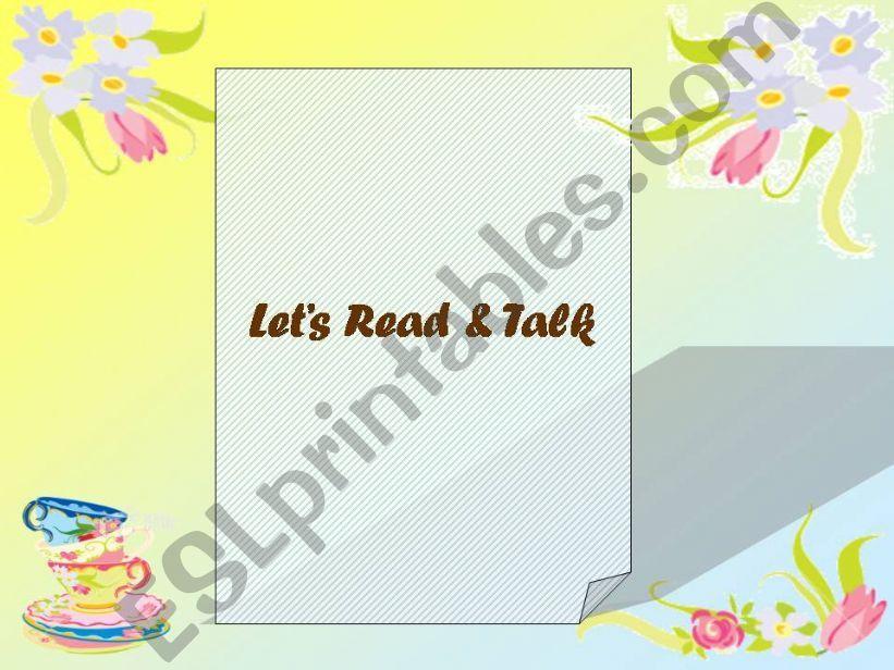 Let´s Read & Talk powerpoint