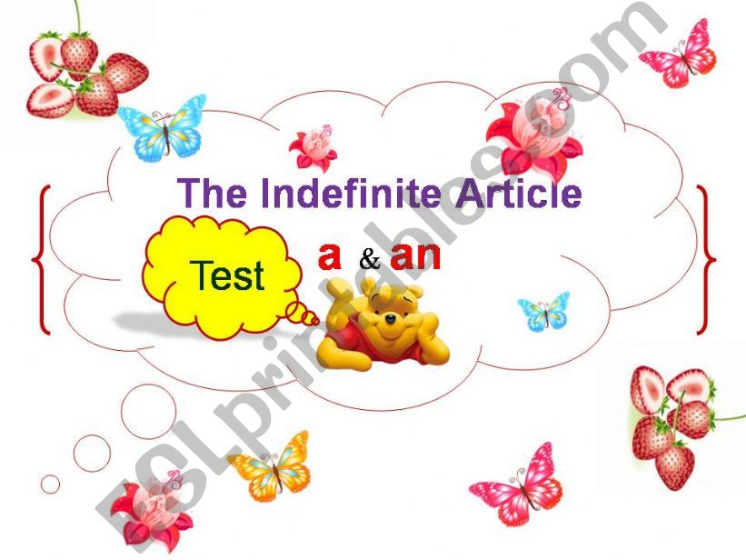 The Mini Test on Indefinite Article