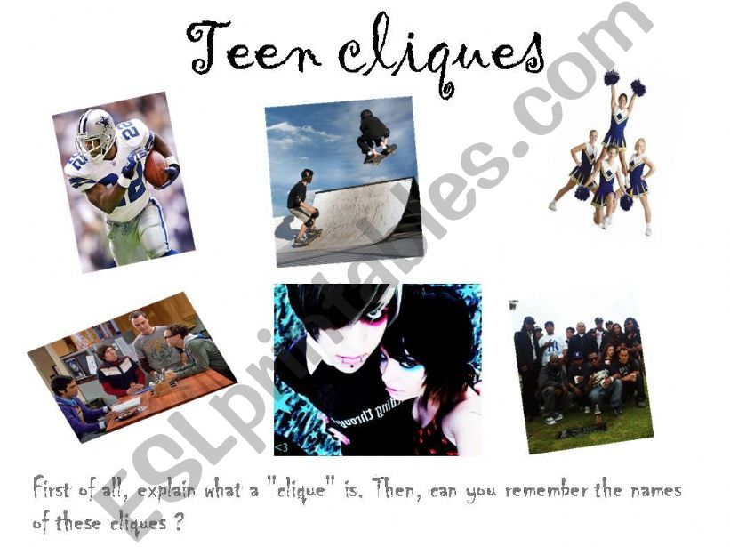 Teen Cliques and Relationships with others