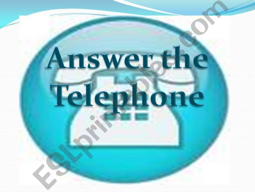 Answer the telephone powerpoint
