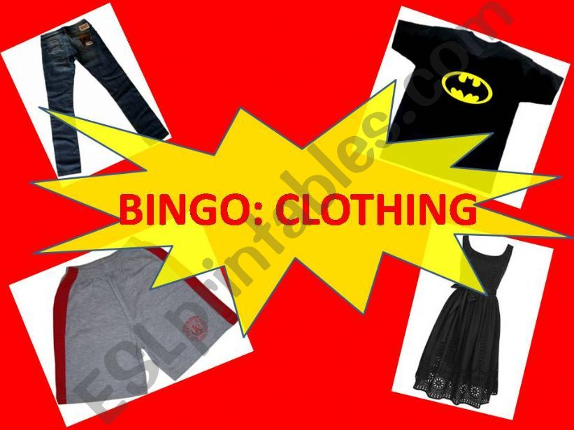 Bingo about Clothes powerpoint