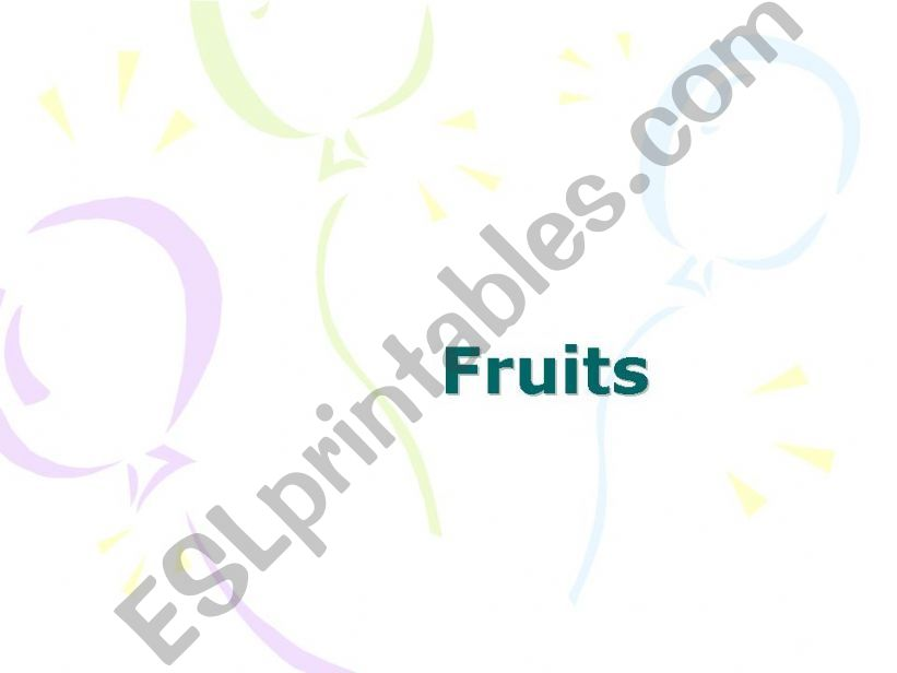 Fruits Pp Presentation powerpoint