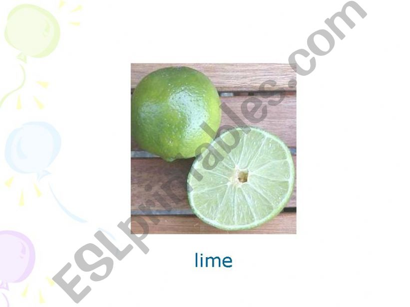Fruits Pp part 2 powerpoint