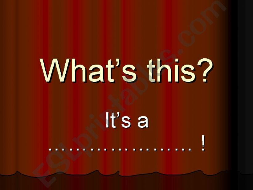 What´s this? Guessing game powerpoint
