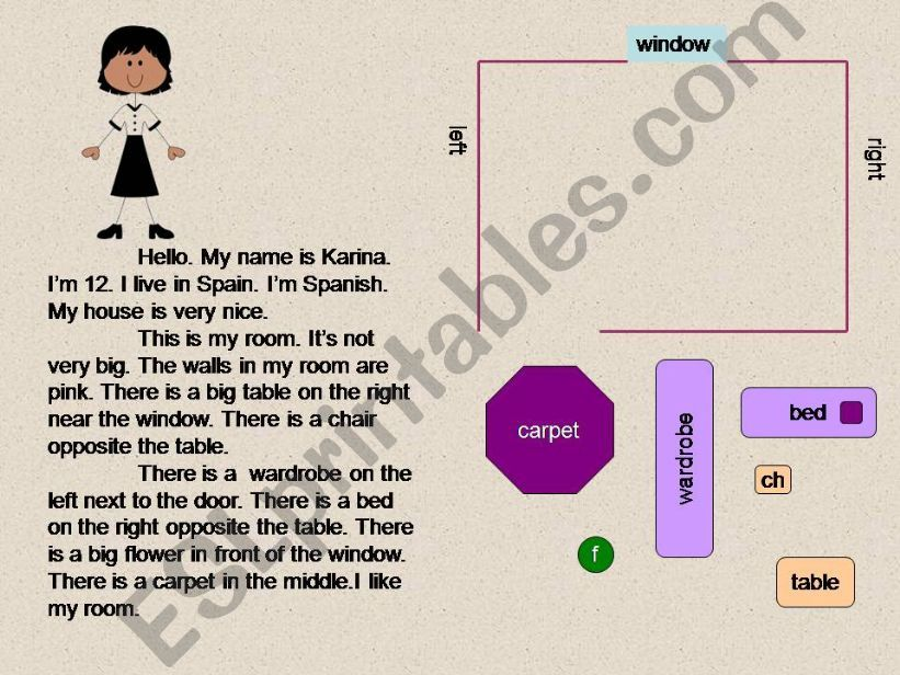 Read and furnish the room powerpoint