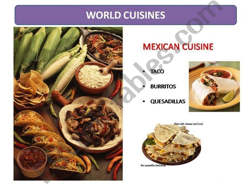 World Cuisines powerpoint