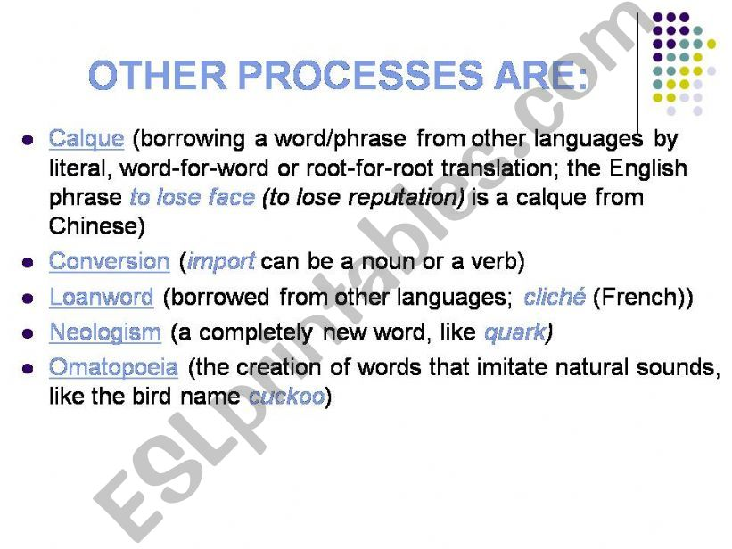 ESL - English PowerPoints: Word formation