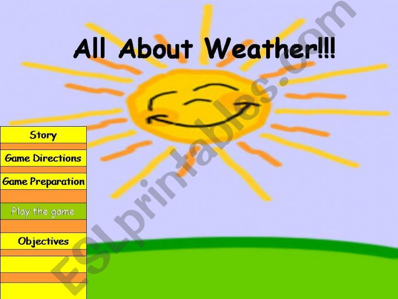 All about weather powerpoint