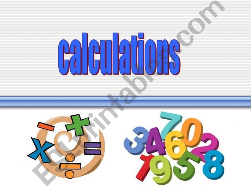 Calculations powerpoint