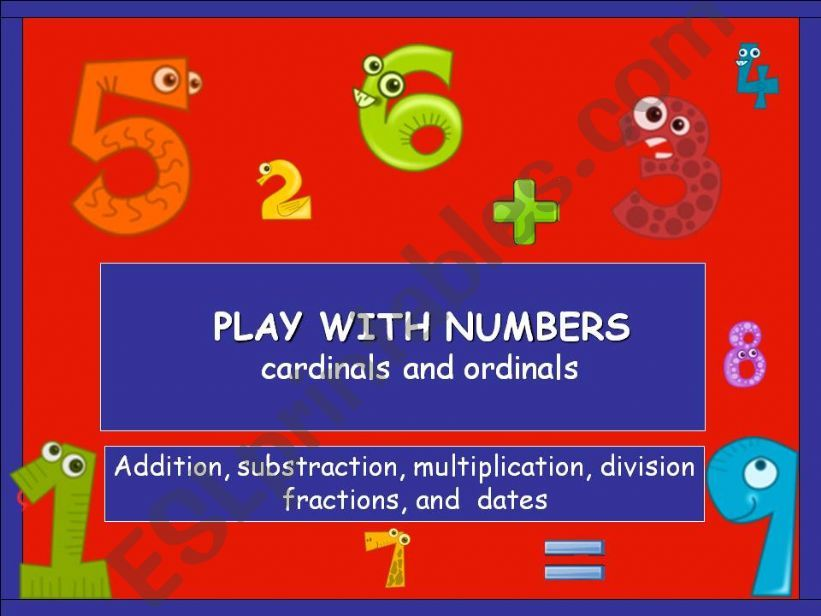 Play with numbers powerpoint