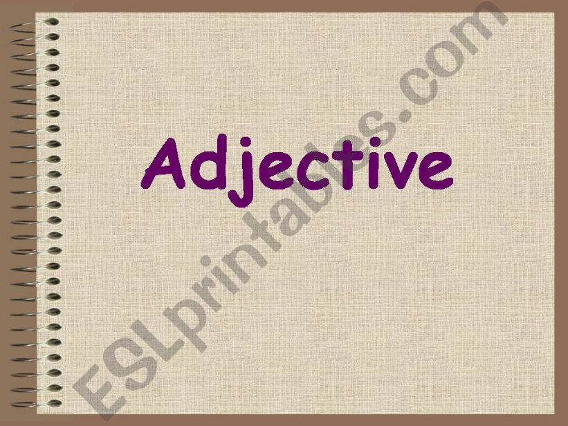 adjective powerpoint