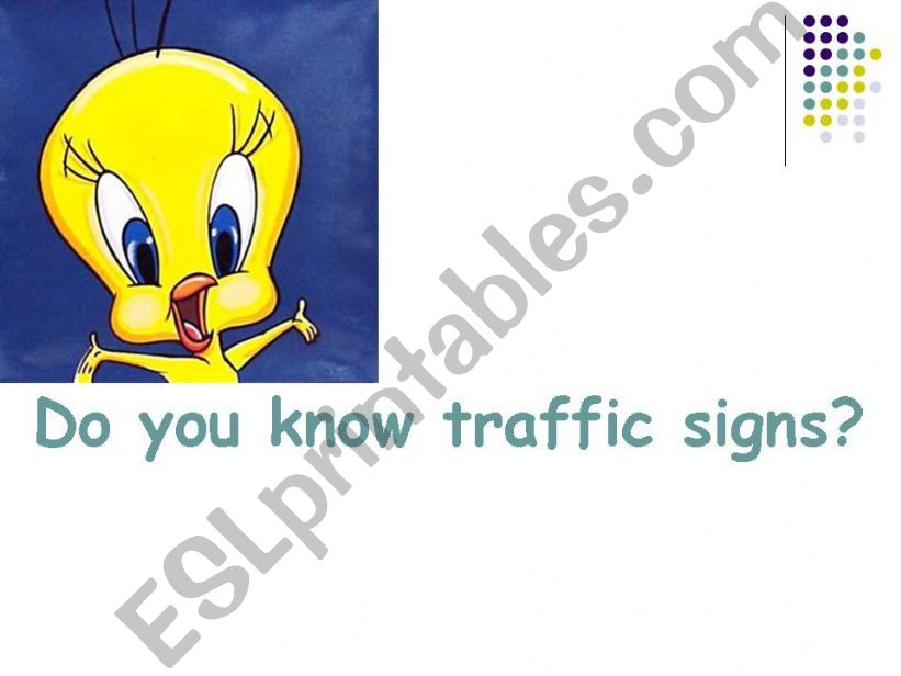 imperatives with traffic signs