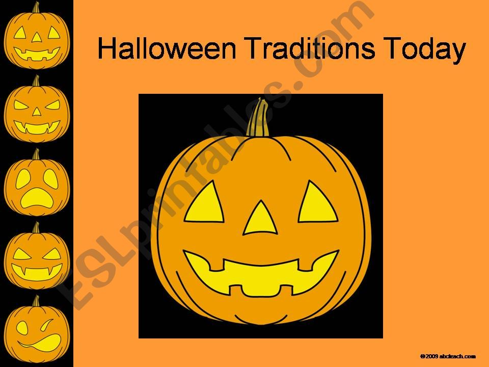 HALLOWEEN   TRADITIONS TODAY powerpoint