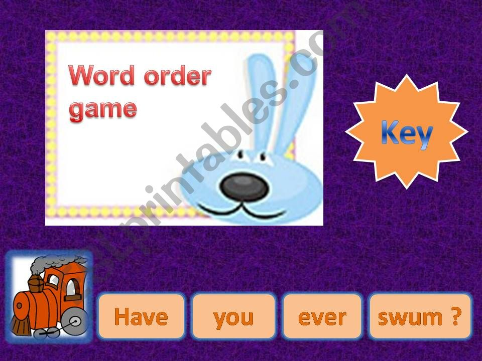 Word Order Present Perfect (Affirmative, Negative, Interrogative)