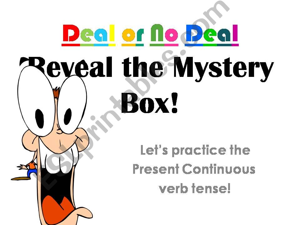 Deal or No Deal - a present continuous review game