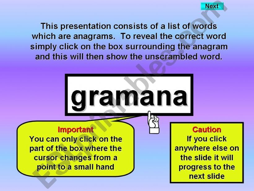 Occupations - anagrams powerpoint