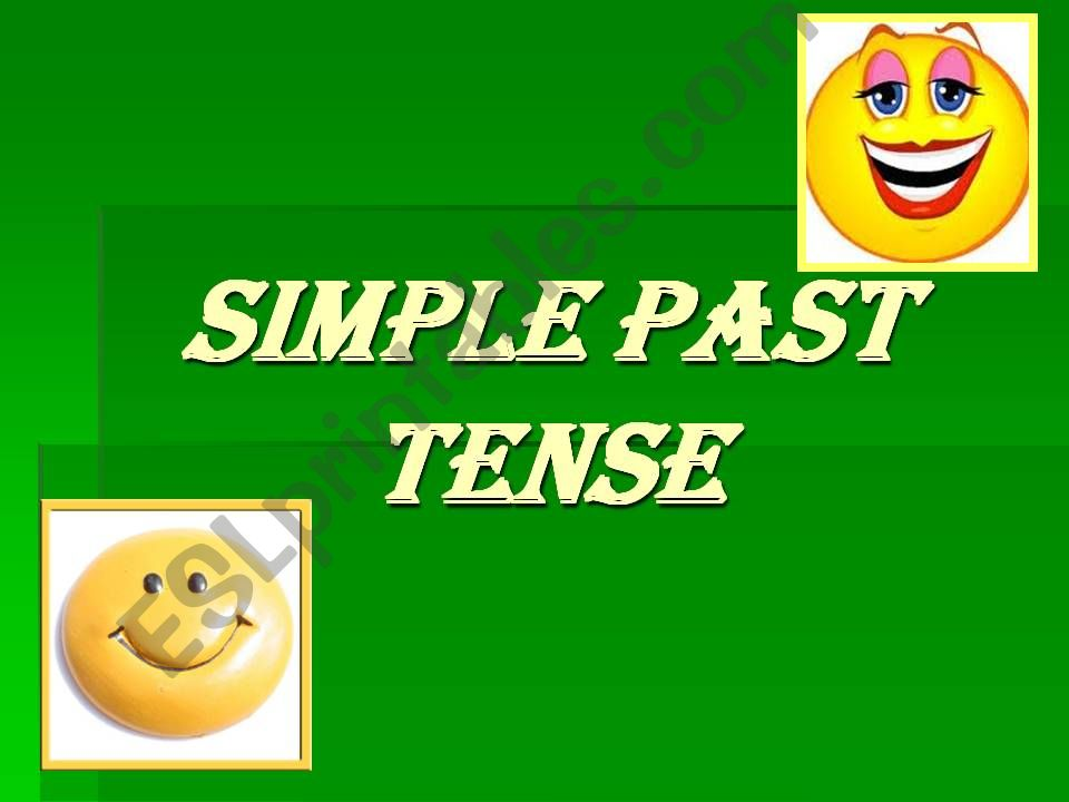 Simple Past powerpoint
