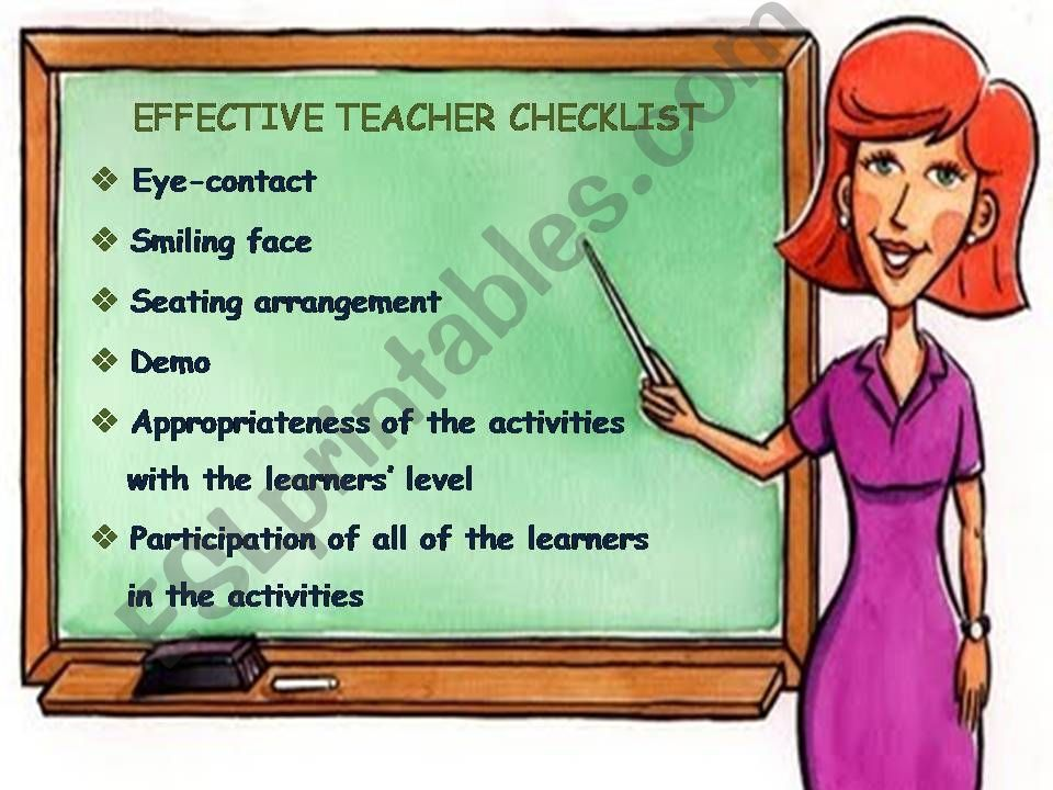 Effective Teacher Checklist powerpoint