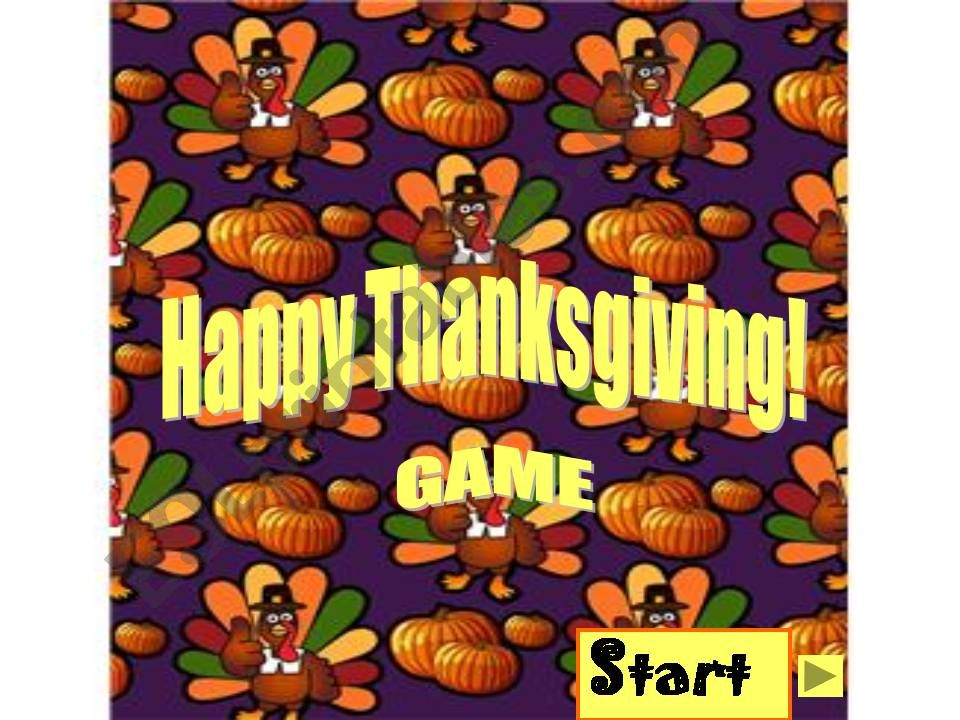 Thanksgiving vocabulary game powerpoint