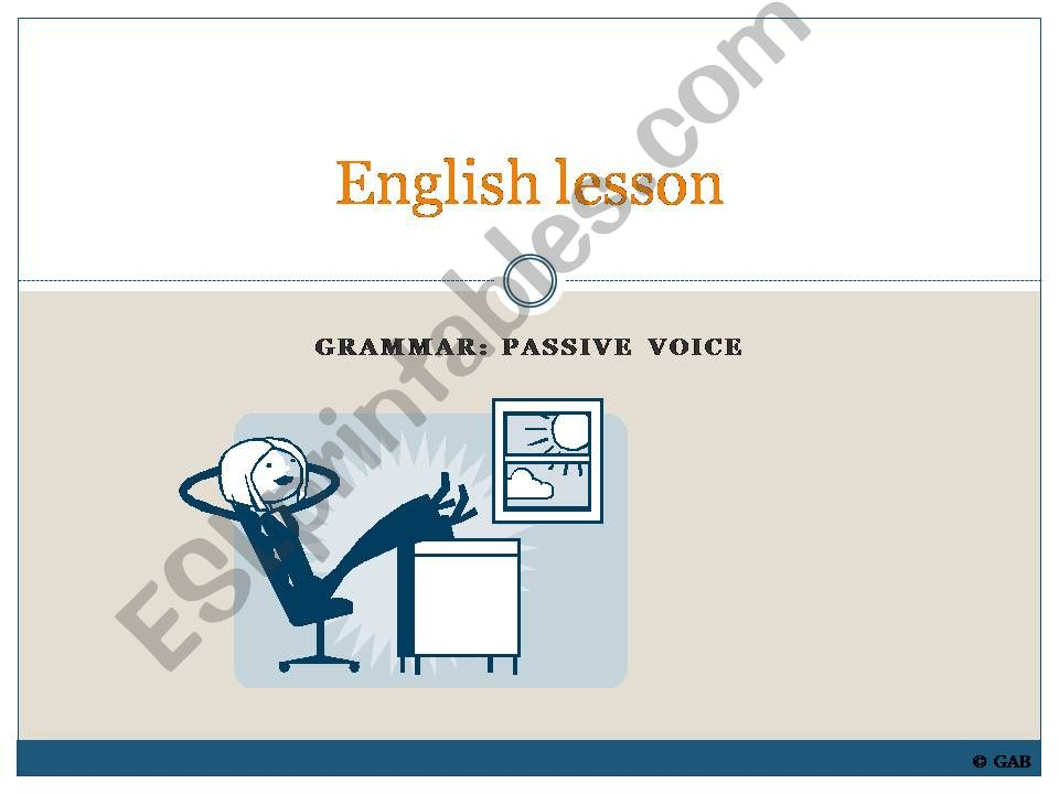 Passive voice - introduction to the structure