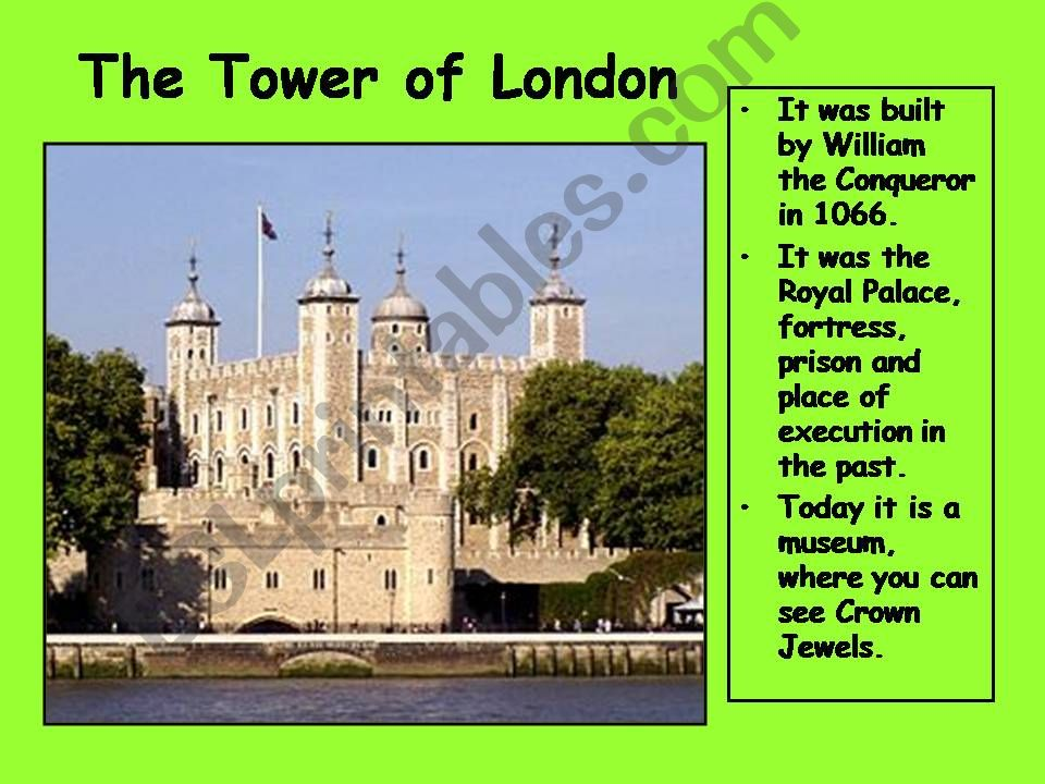 London 4  (from 10 parts) powerpoint