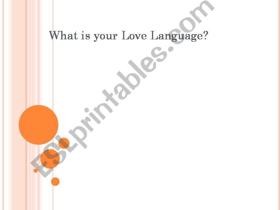 Love Languages Powerpoint