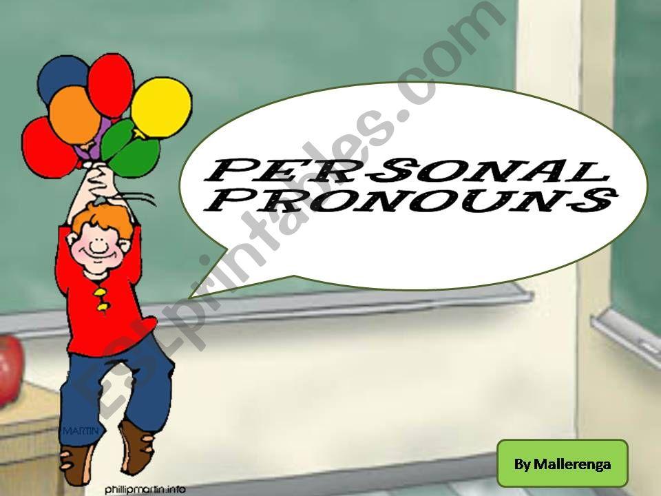 Personal pronouns powerpoint