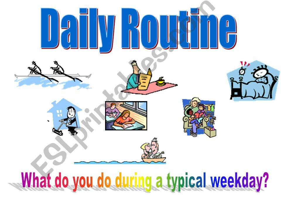 Daily routines animated ppt powerpoint